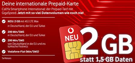 Vodafone Prepaid Karte für die Türkei