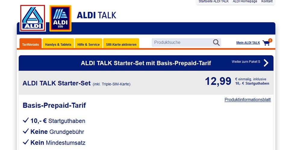aldi talk prepaid tarife
