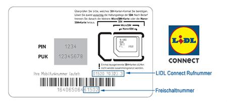 LIDL Connect Freischaltung / Aktivierung