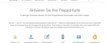 Telekom Prepaid Aktivierung & Registrierung