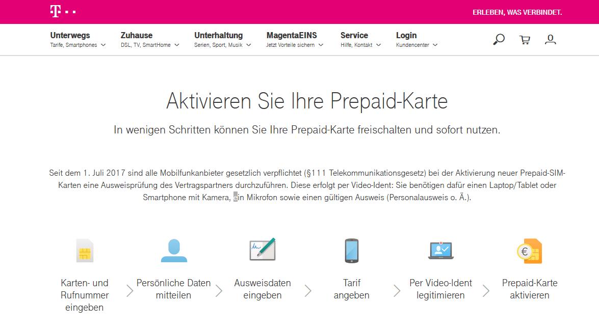 Callya Karte Freischalten.Telekom Prepaid Aktivierung Registrierung So Einfach Geht S
